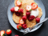 Buckwheat Pancakes with Coconut Yoghurt and Raspberry Jam