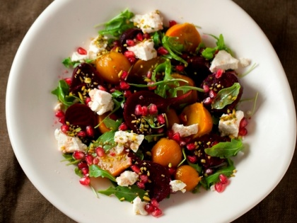 Beetroot Salad with Pomegranate + Pistachio