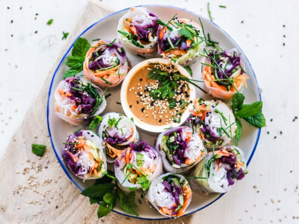 Thai Chicken Rice Paper Rolls