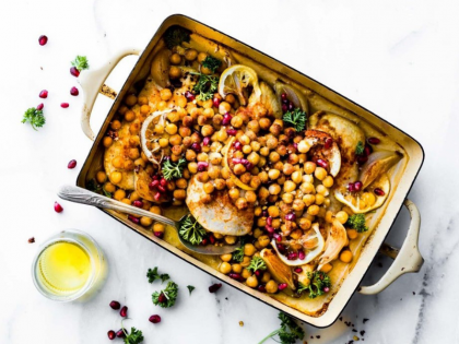 Cumin Roasted Chickpea Chicken Bowls